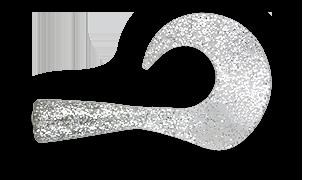 Силиконовый хвост для джеркбейта Wolf Tail Tail SilverGlitter