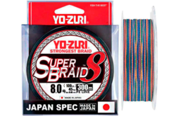 YO-Zuri PE SUPERBRAID 8 300m #6.0 5COLOR 40.0Kg (0.42mm)