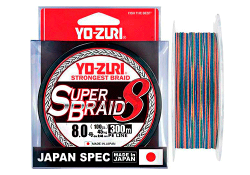 YO-Zuri PE SUPERBRAID 8 300m #6.0 5COLOR 40.0Kg (0.42mm)