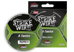 12-жильный-Strike-Wire-X-Twelve-X12-0,36mm-34kg-135m,-mossgreen-темно-зеленый